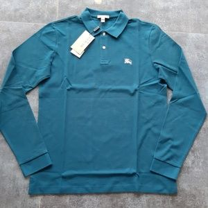 BURBERRY MENS COTTON CASUAL LONG SLEEVE POLO SHIRT